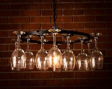 Wine glass Chandelier Light Lighting Chain Wine Decor No Wiring Required
