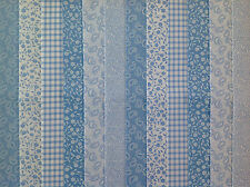 24 Jelly Roll Strips 100 Cotton Patchwork Fabric Teddies Blue 22 Inch Long