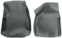 Husky Liners Front Floor Liners - Grey for 00-07 Ford F250 / F350 - 33852