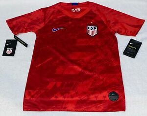 NIKE US USA National Team 2019 4 Star S/S Away Soccer Jersey NEW Youth M L XL