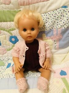 Vintage Large 17In 1950-70 Baby Girl Doll  & Outfit In Very Good Condition