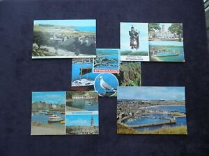 5 Scottish Postcards of Stonehaven, Market Square, Camping & Recreation Ground