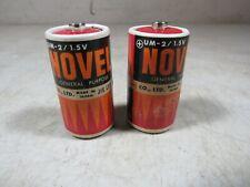 2 Vintage Fuji Electrochemical Novel C Batteries Non Working Japan