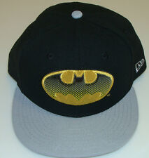 New Era Cap Hat Fitted 7 3/8 Batman 59Fifty Bold Emblem Plastic Dotted Logo