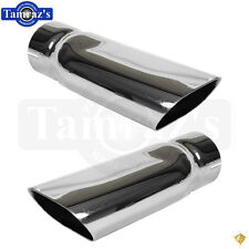 "68-72 Chevelle SS Big Block BB Chrome Plated Exhaust Tip for 3 "" tail pipe PAIR"