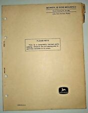 John Deere 10 Side Mounted Mower Parts Catalog Manual (fits 40 to 4020 tractors)