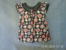 Girls 5 Years - Navy Blue with Pink Floral Short-Sleeve Tunic Top- Pumpkin Patch