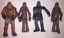 Star Wars 2004 Wookie Lot of 4 Figures Chewbacca Wookie Warrior