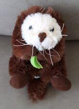 """Sea Otter Plush 12"""" Wildlife Artists Stuffed Animal Holding seaweed"""
