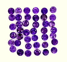 Natural Amethyst Round Cut 2.50 mm Lot 25 Pcs 1.48 Cts Purple Loose Gemstones