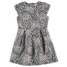 French Connection Childrens Dress Girls Floral Top Clothing Black 7-8 (sg)