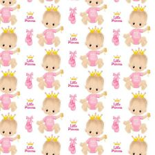 8 PINK BABY GIRL PRINCESS  BACKING PAPERS FOR CARD AND SCRAPBOOK MAKING S3
