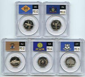 1999 S Clad State Quarter Set PCGS PR69DCAM