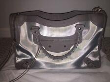 6e2b655f56af Balenciaga Structured City Gray Leather   Mesh Shoulder Bag