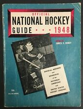 1948 Official National Hockey League Media Guide Rocket Pictured On The Cover