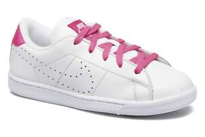 Nike Toddlers Tennis Classic Premium ~White/Pink Infant ~ New in Box