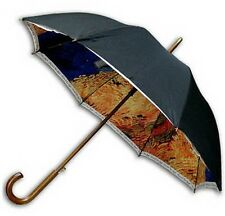Gogh painting long size double sewing automatic umbrella