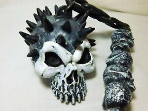 Skull Flail Mace Skeleton Medieval Costume Cosplay Plastic Rubies 1995 Vintage