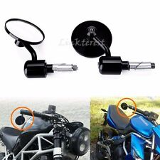 """Black Motorcycle Round 7/8""""Handle Bar End Rearview Mirrors For Honda Grom MSX125"""