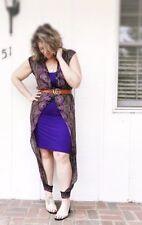 Bohemian Outfit Purple Pajamas Dress Gown Anklet Robe Set Xxs-3X