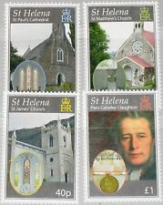 ST HELENA 2009 1095-98 150 Ann Diocese Churches Diozöse Kirchen Religion MNH 2