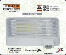 BG520W, 12 volt, Camper or RV Dual AMBER/WHITE LED Porch Light, 220LM/520LM