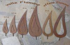 Edel-Rost Flamme mit Gewinde Rost - Kerze - Herbst - Advent verschiedene Grössen