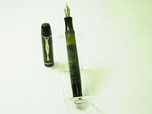 NOS 1940´s MATADOR 811 Striated Fountain Pen Flexy Degussa F Nib