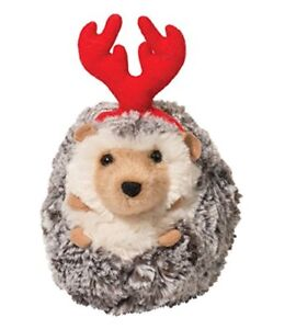 """Spicy Hedgehog with Antlers Plush Stuffed Animal Toy, 5"""" by Douglas"""
