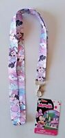 """Disney Trading Pin  Lanyard  MINNIE MOUSE w/ Push Button Toggle NEW JUNIOR 18"""""""