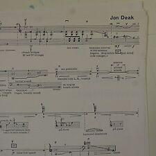 JON DEAK color studies for contrabass , double bass solo - graphic score