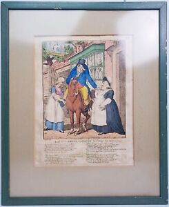 "Thomas Tegg ""London Pub"" Early 1807 ORIGINAL Hand-coloured etching 19th Century"
