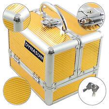 Beauty Case Make Up Nail Art DynaSun BS35 Gold Valigia Cofanetto Porta Gioie