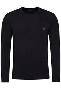 Emporio Armani Tee-shirt Noir À Manches Longues 111653 0a512