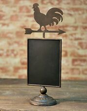Country Primitive~`Tabletop Standing`Rooster Weathervane  Blackboard` Farmhouse`