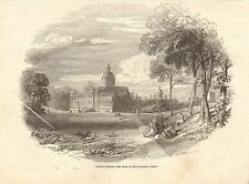 1848 ANTIQUE PRINT-YORKSHIRE-CASTLE HOWARD, SEAT OF THE CARLISLE FAMILY