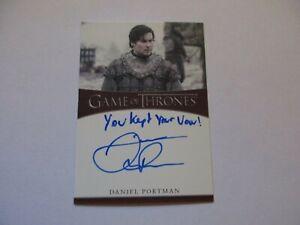 2020 Game of Thrones The Complete Series DANIEL PORTMAN Inscription Autograph