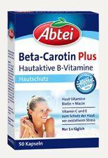 Abtei Beta Carotin Plus Hautaktive B Vitamine, Vitamine C, E, 50 St. PZN 1155930