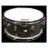 "Ludwig 6.5"" x 14"" Rocker Snare Drum; 1980s, Black & White Badge, Chrome Wrap"
