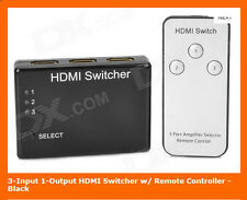 TechByte 3 Port HDMI Switch with Remote - HDMI Switcher With Remote