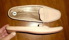 NWOT COLE HAAN - PEACH LEATHER MOC-STITCHED SLIDE LOAFERS - LADIES 7N