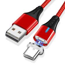 Tipo Magnético 5A LED USB Trenzado C Rápido Cargador Cable de Datos de Carga para Huawei