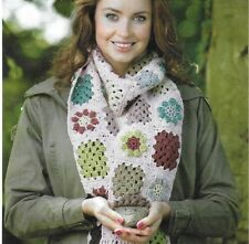 Granny square écharpe Crochet Motif cadeau de Noël 381
