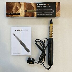 CARMENHAIR Ceramic Blow & Curl with Retractable Bristles New/ Other Model 13414