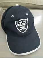 Oakland Raiders Embroidered Cap Adjustable Hat NFL Team Apparel Black