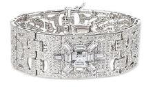 NWT CZ by Kenneth Jay Lane AMAZING Art Deco Flex Cuff Bracelet KBR166
