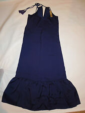 women's J Crew navy blue satin Nightgown lingerie long gown XXS retail $98 NEW