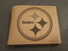 Pittsburgh Steelers Mens Bifold Pu Leather Wallet, RFID Blocking, Personalized