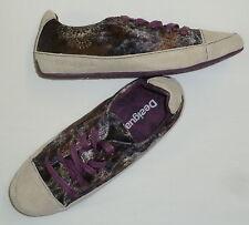 chaussures baskets 37 DESIGUAL NEUVES  femme fille emp CUIR val 74 eu