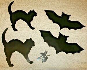 Lot of Black Halloween Die Cuts - Bats, Cats, & Witch